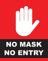 No Mask No Entry Flyers
