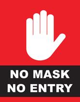 No Mask No Entry Flyers