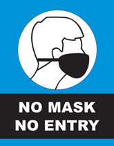 No Mask No Entry - Safety Flyers