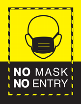 Pre-Made Health & Safety Flyers - No Mask No Entry