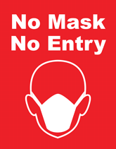 Free Health & Safety Flyers - No Mask No Entry