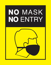 Free Pre-Made Health & Safety Flyers - No Mask No Entry