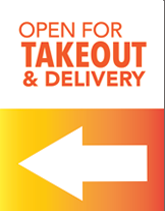 Open for Takeout & Delivery Posters Free