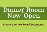 Free Dining Room Now Open Posters