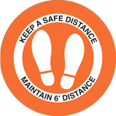 Floor Decals – Pre-Made Safe Distance Graphics