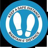 Floor Decals – Free Safe Distance Graphics
