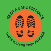 Floor Decals – Free Keep Safe Distance Graphics