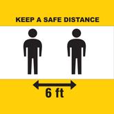 Free Keep Safe Distance Graphics - Floor Decals