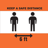 Pre-Made Keep Safe Distance Graphics - Floor Decals