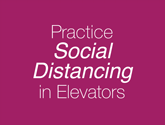Posters - Elevators Safe Distancing