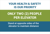 Pre-Made Elevators Safe Distancing Posters