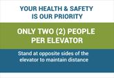 Pre-Made Elevators Safe Distancing Posters