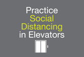 Posters - Social Distancing in Elevators