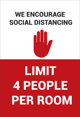Posters - Social Distancing Graphics for Hotel